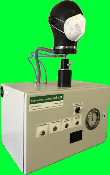 Atemwiderstand-Prüfgeraet mit internem Durchflussgerät