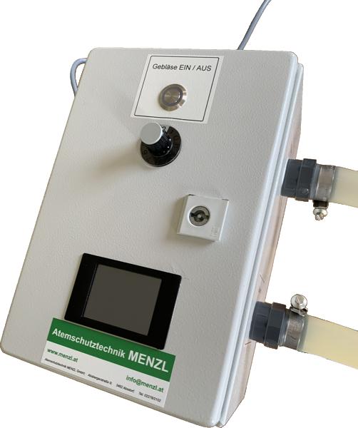 Durchflussgerät mit elektronischer Messstelle und Anzeige für  EN 149