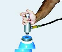 Spannanschlüsse für Pressluftflaschengewinde