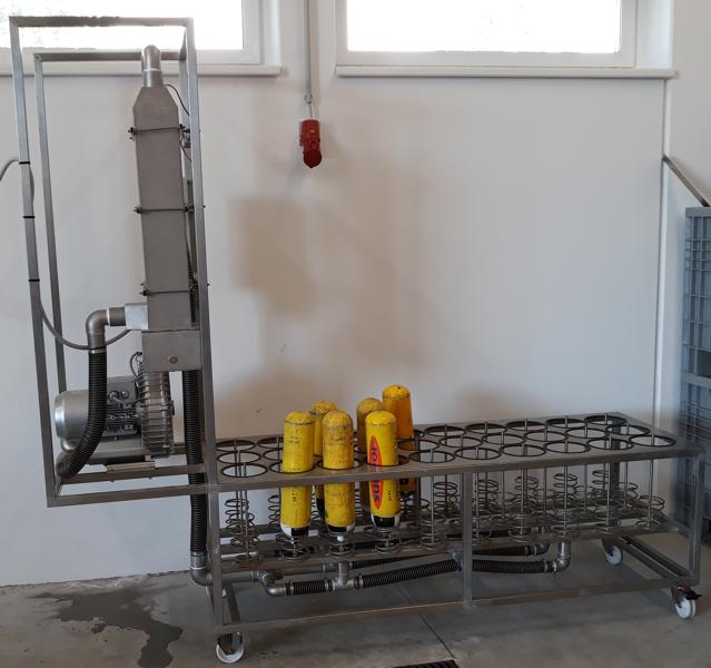 Trockengerät für Stahlflaschen