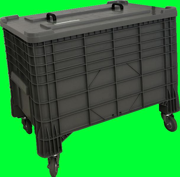 Transportcontainer mit Schadluftabsaugung