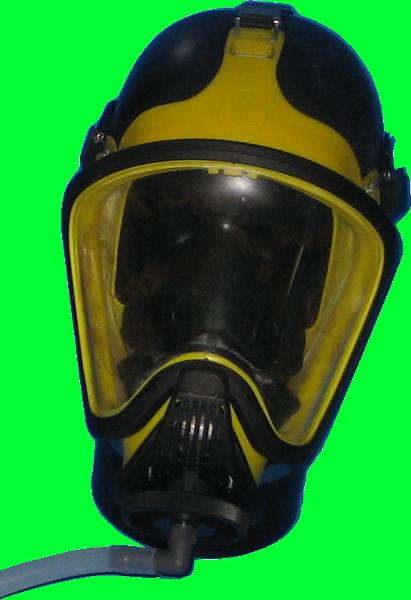 Pruefkopf mit Maske