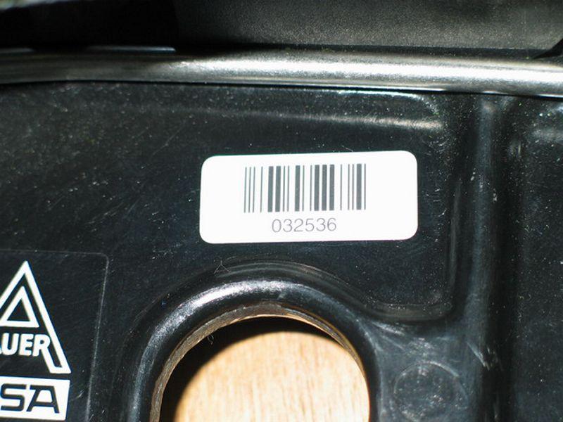 Barcode auf Trägerplatte